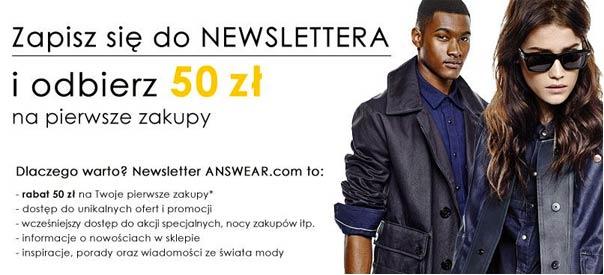 Rabat na 50zł Answear.com