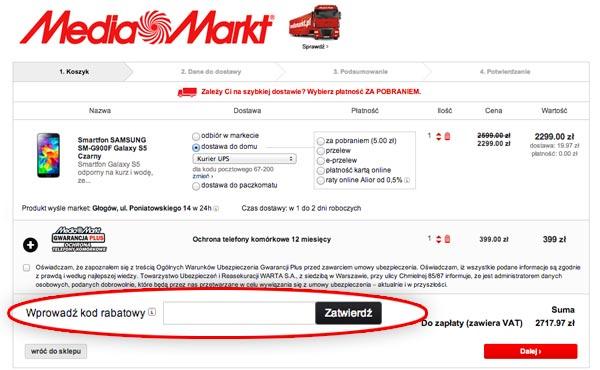 kod rabatowy Mediamarkt.pl